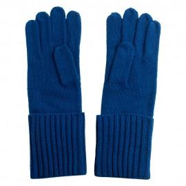 Blå cashmere beanie og handsker
