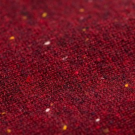 Vinrød strikket poncho i cashmere med nister