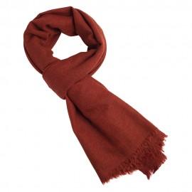 Yak halstørklæde i en varm orange farve