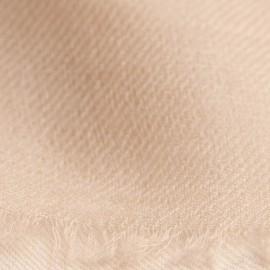 Sandfarvet pashmina sjal i 2 ply twill