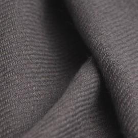 Koksgråt twill vævet cashmere tørklæde