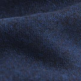 Cashmere tørklæde i blå/sort melange