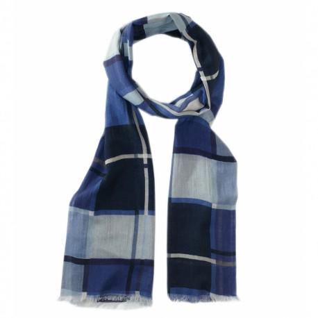Ternet tørklæde i mørkeblå farver