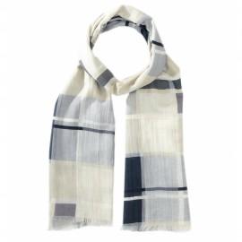 Ternet tørklæde i lyseblå farver
