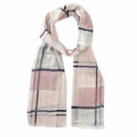 Ternet tørklæde i rosa nuancer
