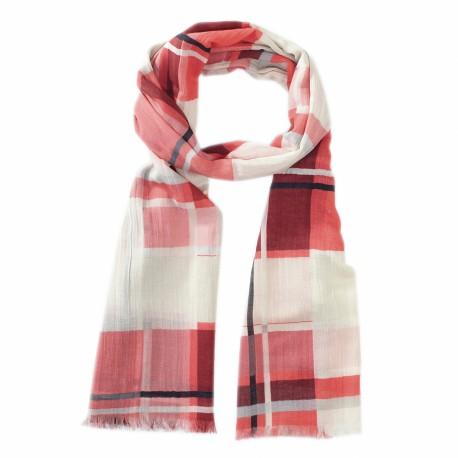 Ternet tørklæde i røde farver