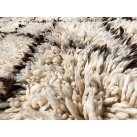 Stort Beni Ouarain tæppe i uld