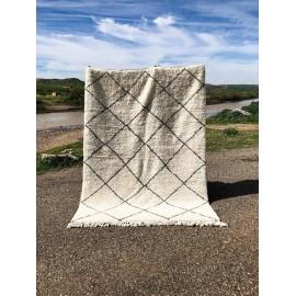 Stort marokkansk berbertæppe i uld