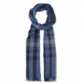 Bomuldstørklæde i blå farver