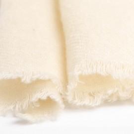 Lille cashmere tørklæde i råhvid