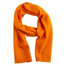 Lille cashmere tørklæde i orange