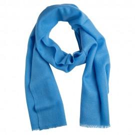 Lille cashmere tørklæde i himmelblå