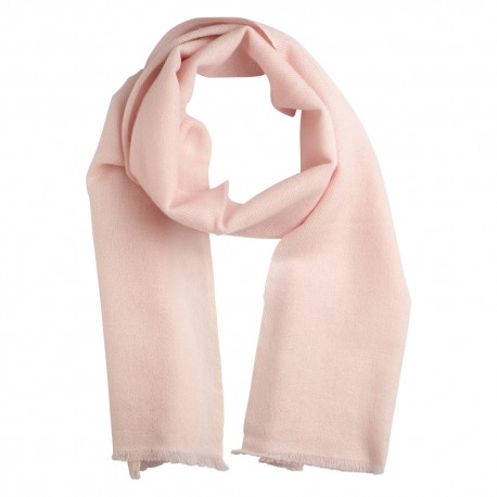 Lille cashmere tørklæde i sart rosa
