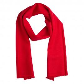 Lille cashmere tørklæde i mørkerød