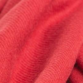 Tranebærrødt twill vævet pashmina tørklæde
