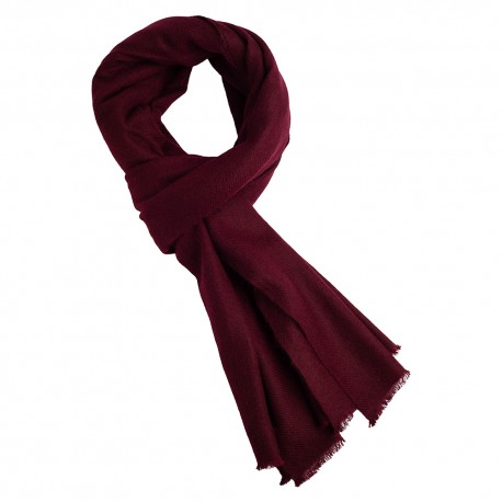 Rødbrunt twill vævet pashmina tørklæde