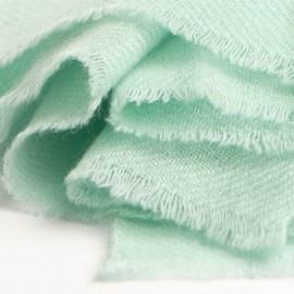 Mintgrønt twill vævet pashmina tørklæde