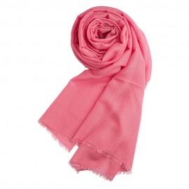 Rosa pashminasjal i cashmere og silke