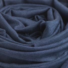 Marineblåt pashminasjal i cashmere og silke