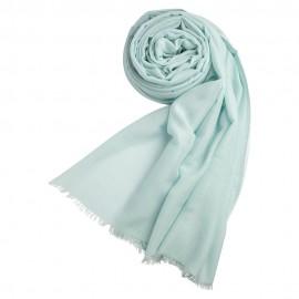 Opalfarvet pashminasjal i cashmere og silke