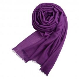 Mørk lilla pashminasjal i cashmere og silke