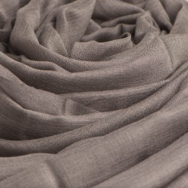 Musegråt pashminasjal i cashmere og silke