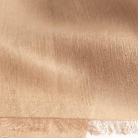 Sandfarvet pashminasjal i cashmere og silke