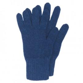 Mørkeblå strikkede handsker i lambswool