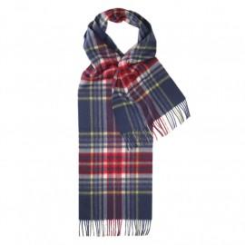 Blåt skotsternet halstørklæde i lambswool
