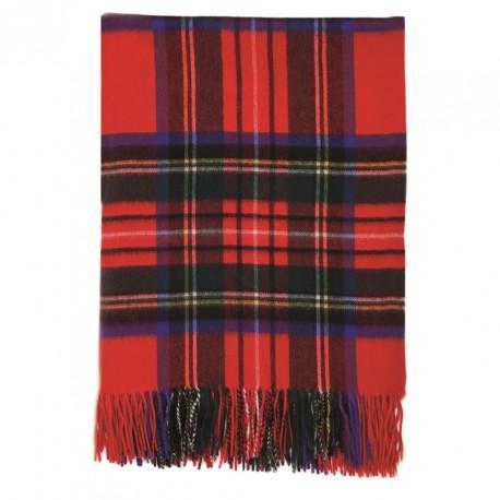 Oversize tørklæde i røde skotsktern