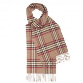 Skotskternet tørklæde i beige