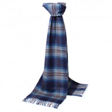 Skotskternet tørklæde i blå nuancer