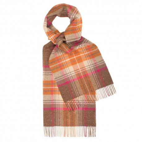 Skotskternet tørklæde i orange og brun