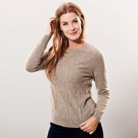 Cashmere sweater beige meleret