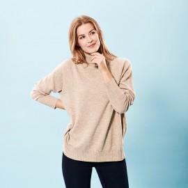 Oversize cashmere sweater i beige