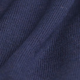 Marineblåt sjal i silke/cashmere strik