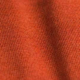 Orange sjal i silke/cashmere strik
