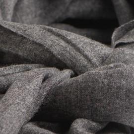 Tørklæde i mørk naturgrå cashmere melange