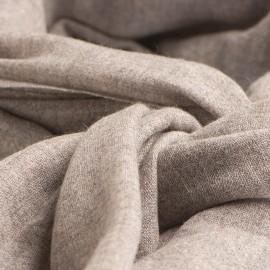 Tørklæde i lys naturgrå cashmere melange