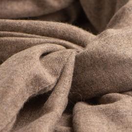 Tørklæde i naturbrun cashmere melange