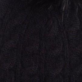 Sort beanie i strikket cashmere