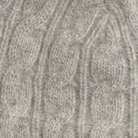 Grå cashmere hue med kvast