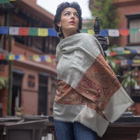 Pasiley tørklæde i ren cashmere
