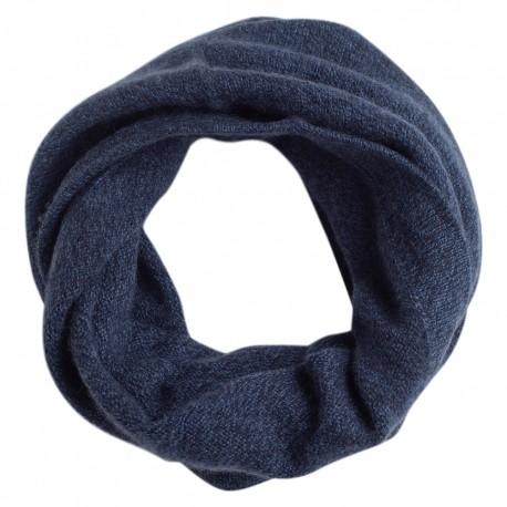 Råhvid strikket halsvarmer i ren cashmere