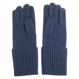 Blå strikkede cashmere handsker