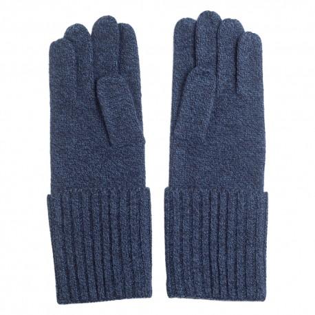 Råhvide strikkede cashmere handsker