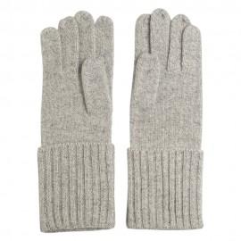 Grå strikkede cashmere handsker
