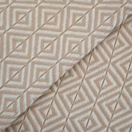 Beige hammam håndklæde i diamantmønster