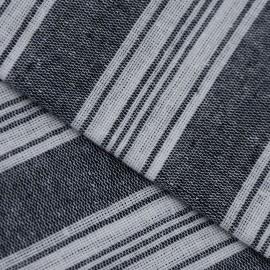 Sort/hvidt stribet hammam håndklæde