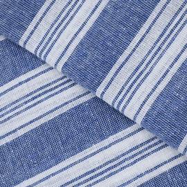 Blåt/hvidt stribet hammam håndklæde